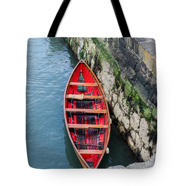 Red Canoe Tote Bag by Mary Carol Story