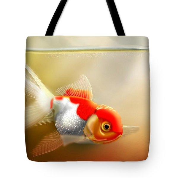 Red Cap Goldfish Tote Bag