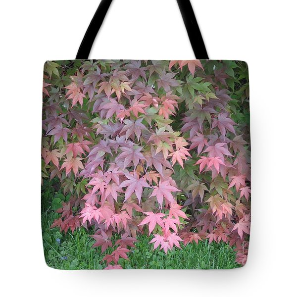 Red Cascades Into Green Tote Bag
