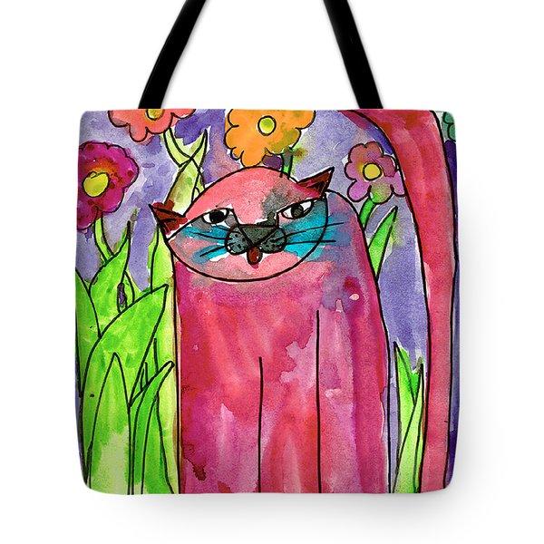 Red Cat Tote Bag