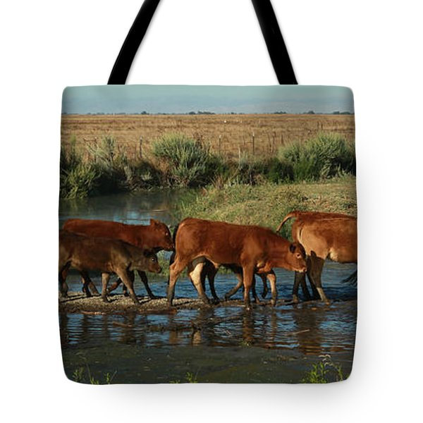 Red Cattle Tote Bag
