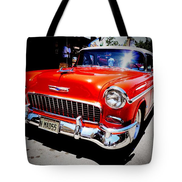 Red Chevrolet Bel Air Tote Bag by Nina Prommer