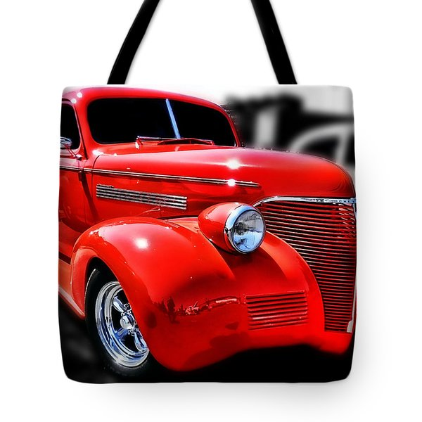 Red Chevy Hot Rod Tote Bag