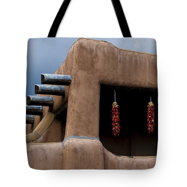 Red Chile Ristras Santa Fe Tote Bag