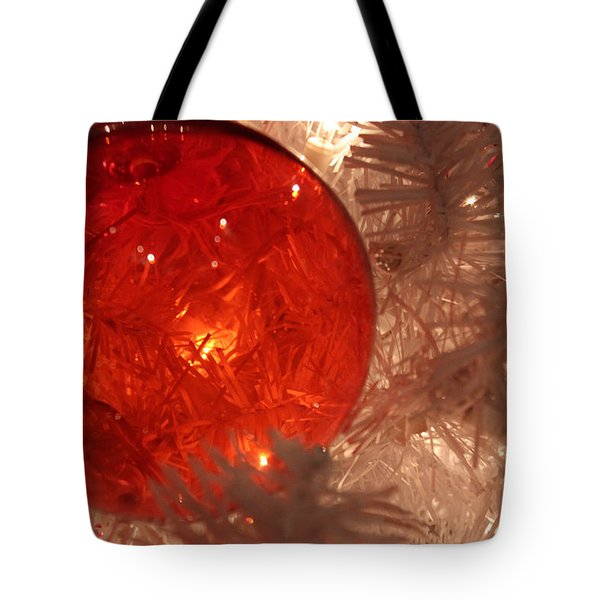 Tote Bag featuring the photograph Red Christmas Ornament by Lynn Sprowl