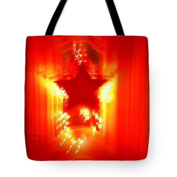 Red Christmas Star Tote Bag by Gaspar Avila