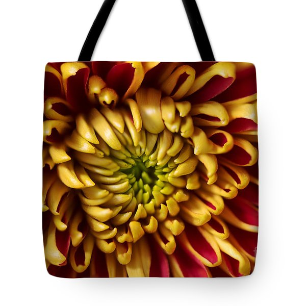 Red Chrysanthemum Tote Bag by Matt Malloy