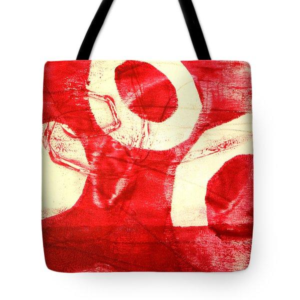 Red Circles Abstract Tote Bag