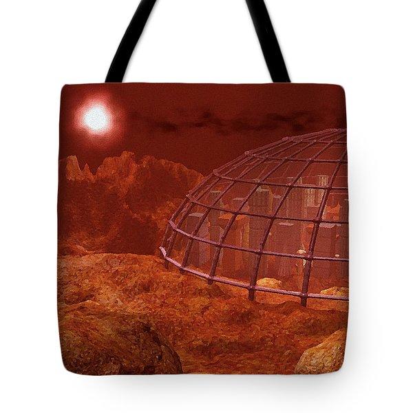 Red City Tote Bag by Anastasiya Malakhova