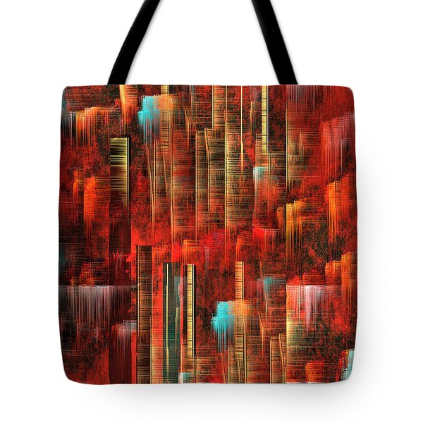 Tote Bag featuring the painting Concrete Jungle by Yul Olaivar