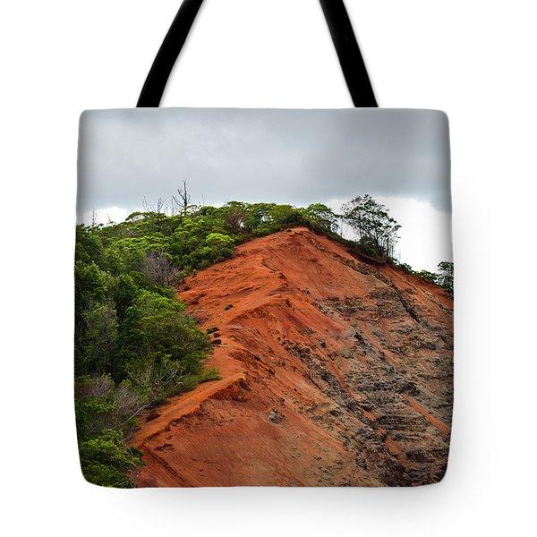 Red Cliff At Waimea Tote Bag by Christi Kraft