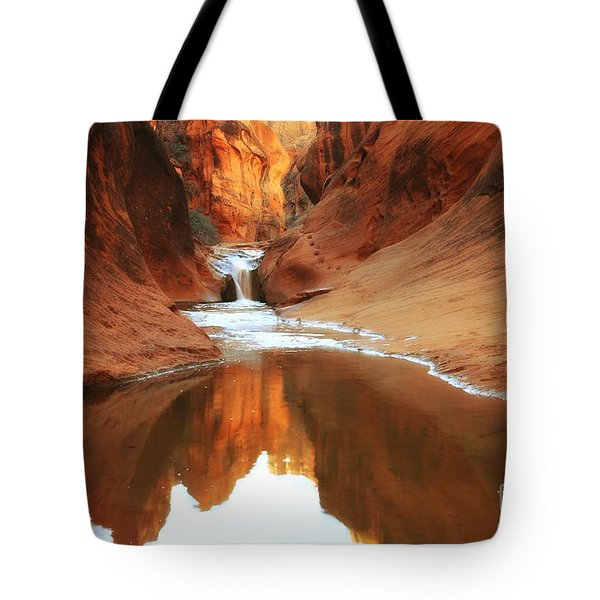 Red Cliffs Symphony Tote Bag