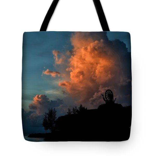 Red Clouds Tote Bag