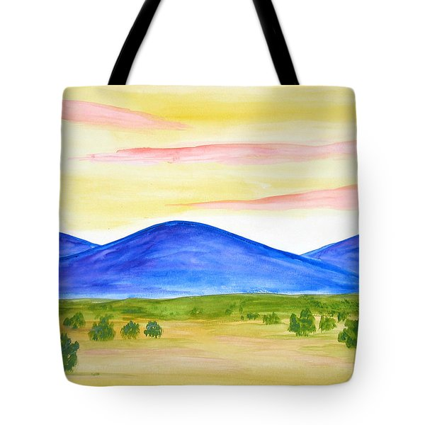 Red Clouds Over Mountains Tote Bag