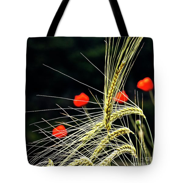 Red Corn Poppies Tote Bag