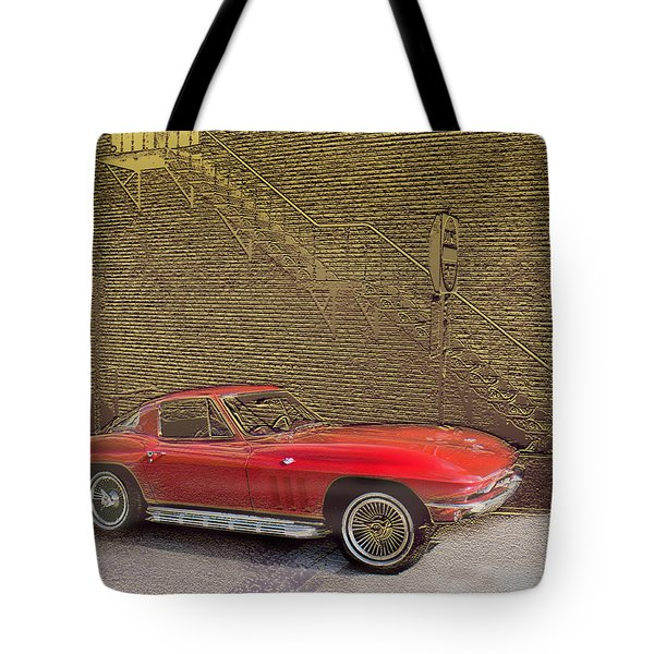 Red Corvette Tote Bag