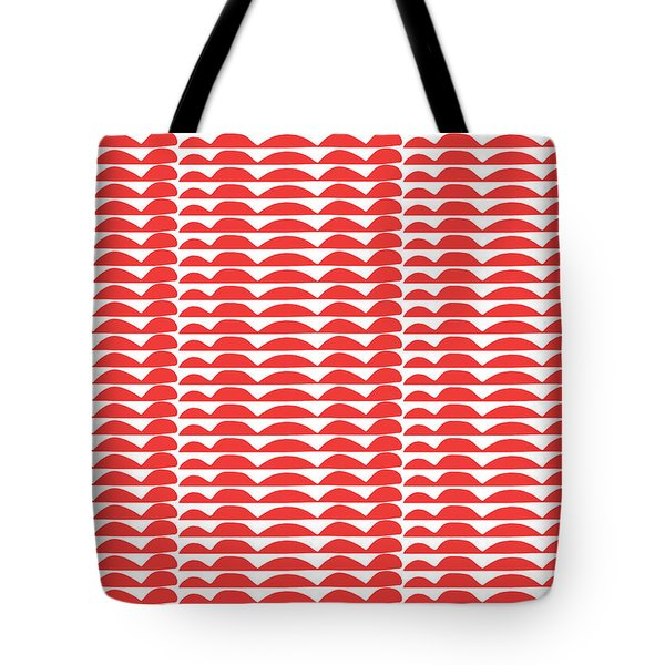 Red Cut Outs- Abstract Pattern Art Tote Bag