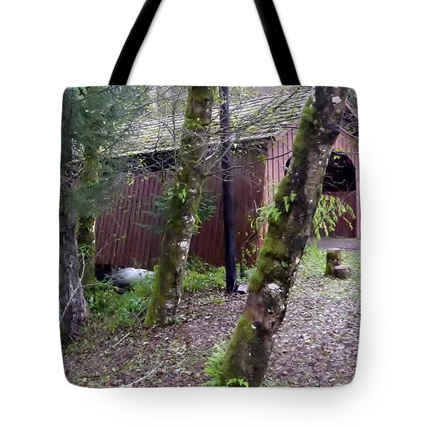Red Covered Bridge  Tote Bag by Susan Garren