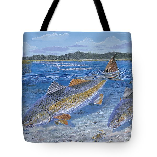 Red Creek In0010 Tote Bag by Carey Chen