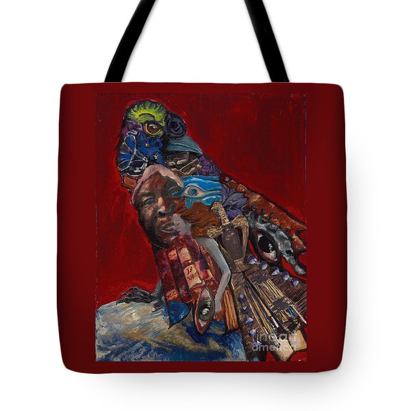Red Crow Tote Bag by Emily McLaughlin