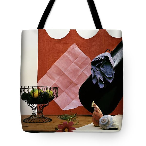 Red Curtains Tote Bag