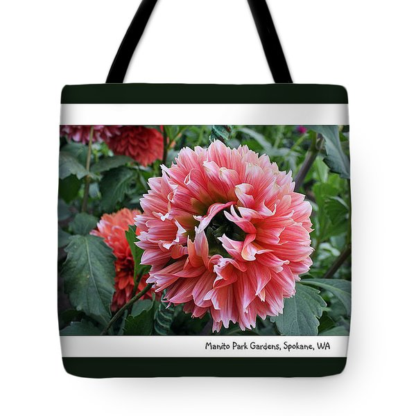 Tote Bag featuring the photograph Red Dahlia by Ellen Tully