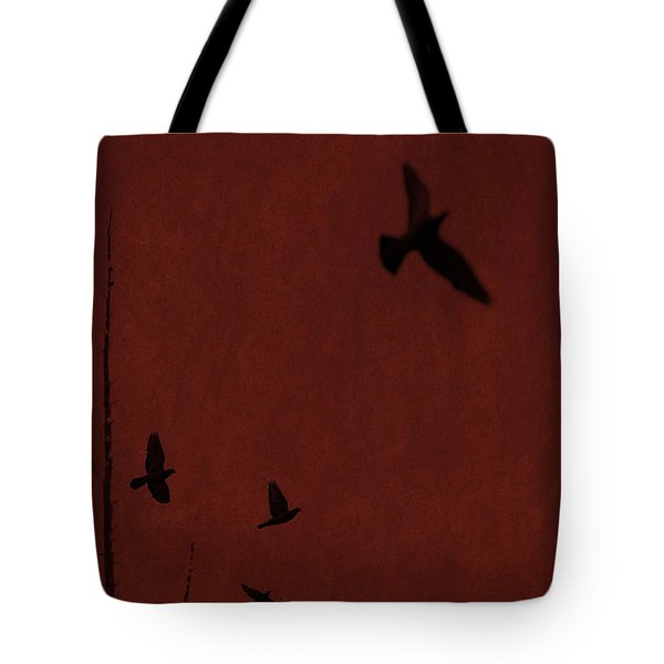 Red Darkness Tote Bag