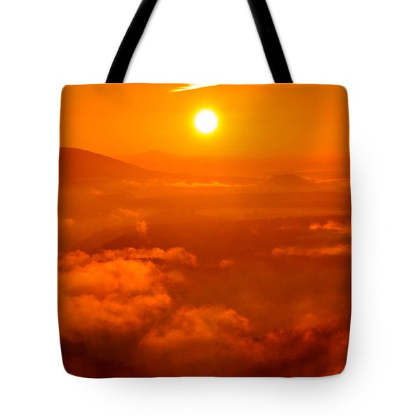 Red Dawn On The Lilienstein Tote Bag