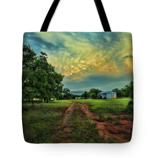 Red Dirt Road Tote Bag by Toni Hopper