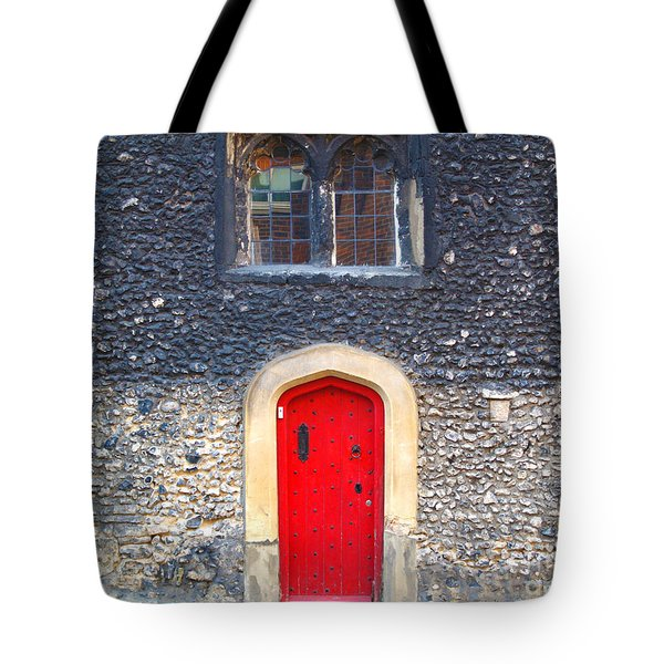Red Door In Winchester Uk Tote Bag