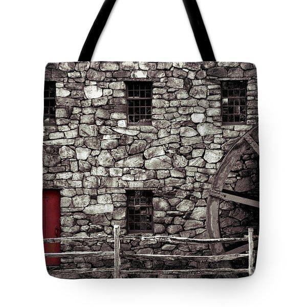 Red Door Tote Bag by Jayne Carney