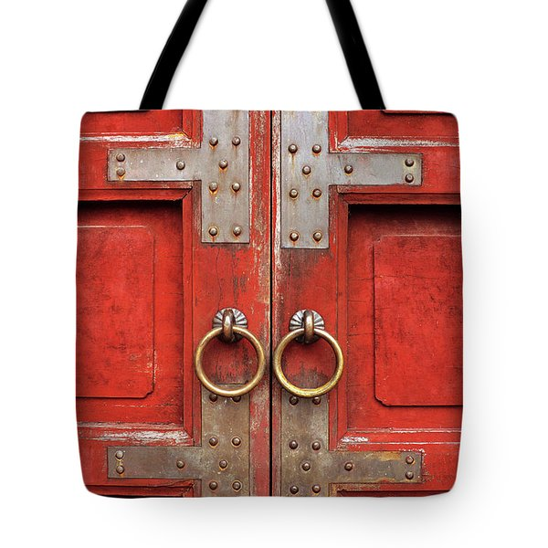 Red Doors 01 Tote Bag