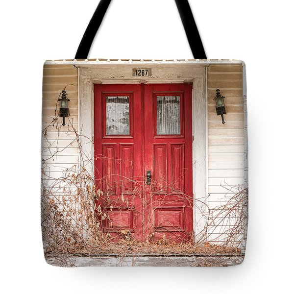 Red Doors - Charming Old Doors On The Abandoned House Tote Bag