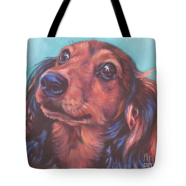 Red Doxie Tote Bag