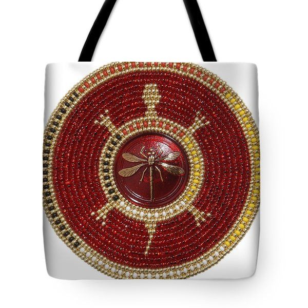 Red Dragonfly Tote Bag