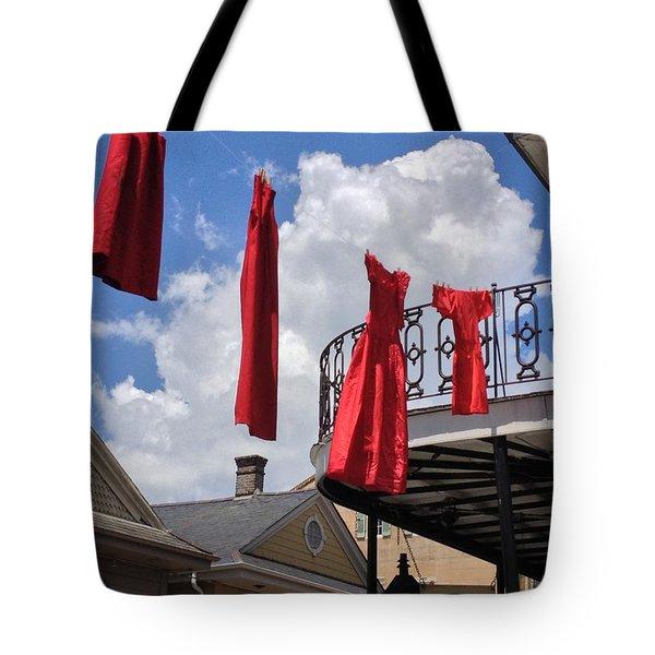 Red Dress Lineup  Tote Bag