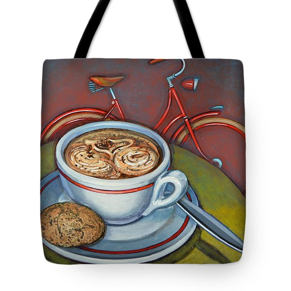Red Dutch Bicycle With Cappuccino And Amaretti Tote Bag