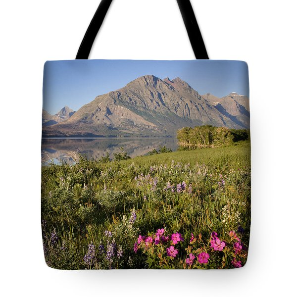 Tote Bag featuring the photograph Red Eagle Mountain by Jack Bell