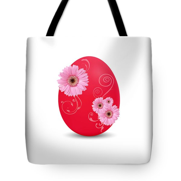 Red Easter Egg Tote Bag