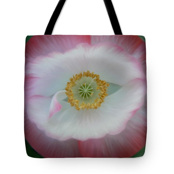 Tote Bag featuring the photograph Red Eye Poppy by Barbara St Jean