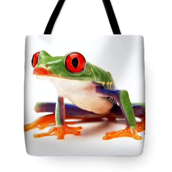Red-eye Tree Frog 1 Tote Bag by Lanjee Chee