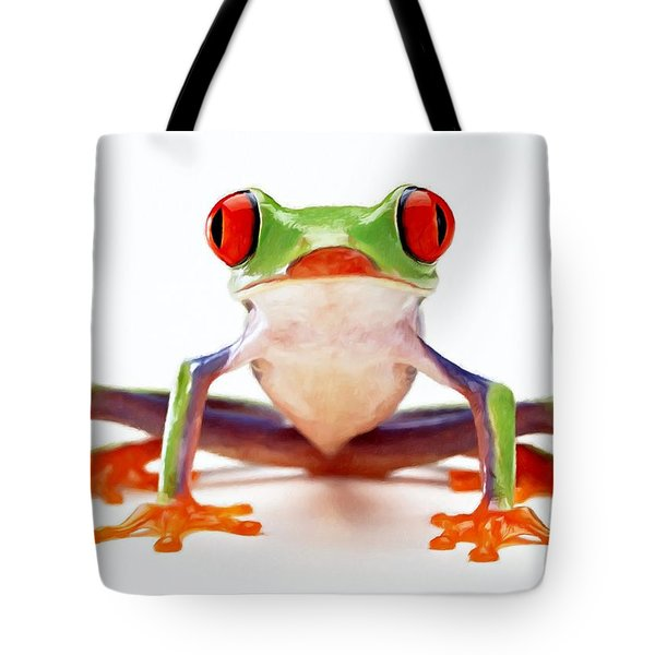 Red-eye Tree Frog 2 Tote Bag by Lanjee Chee
