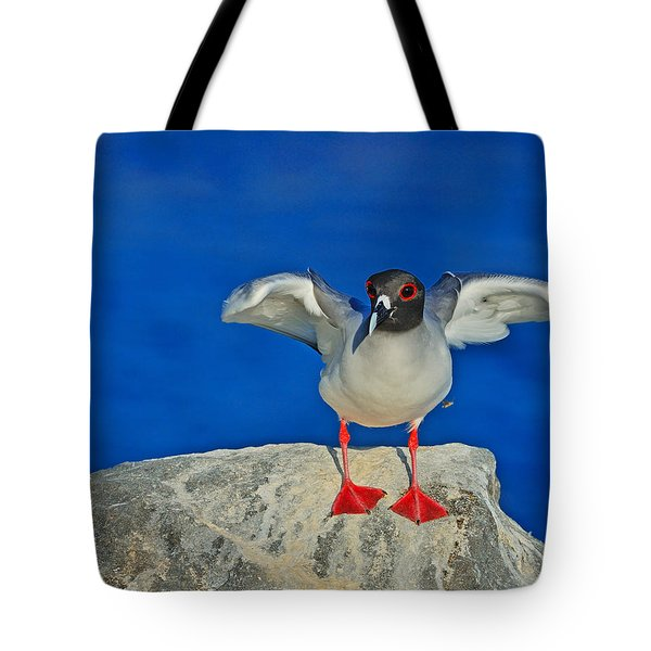 Red Eyes Tote Bag by Tony Beck