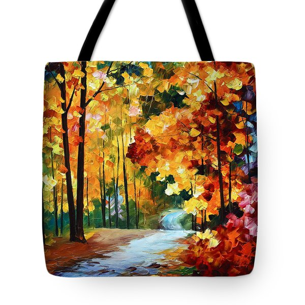 Red Fall Tote Bag by Leonid Afremov