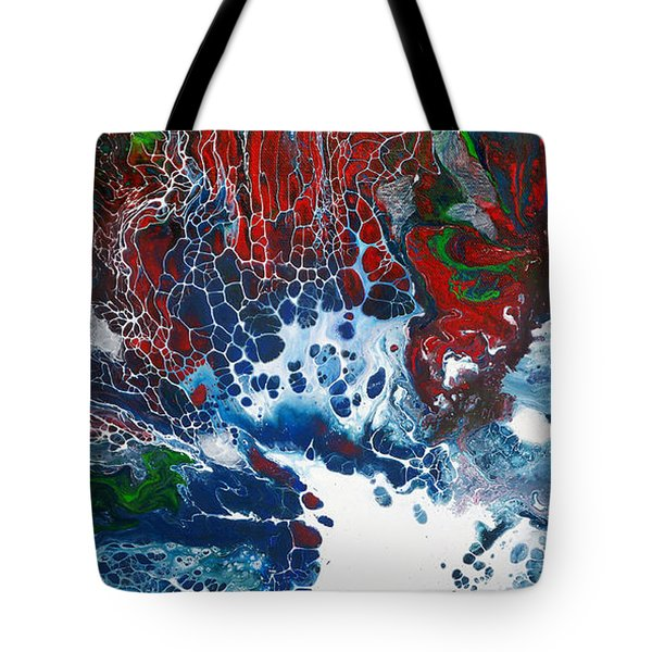 Red Fan Coral Tote Bag