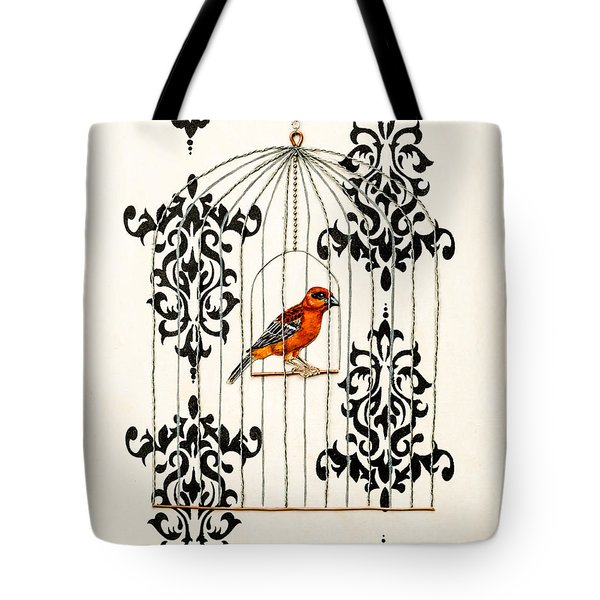 Red Finch Tote Bag by Stefanie Forck