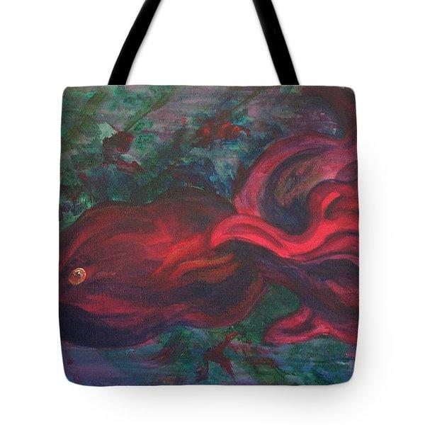 Red Fish Tote Bag by Sheri Lauren Schmidt