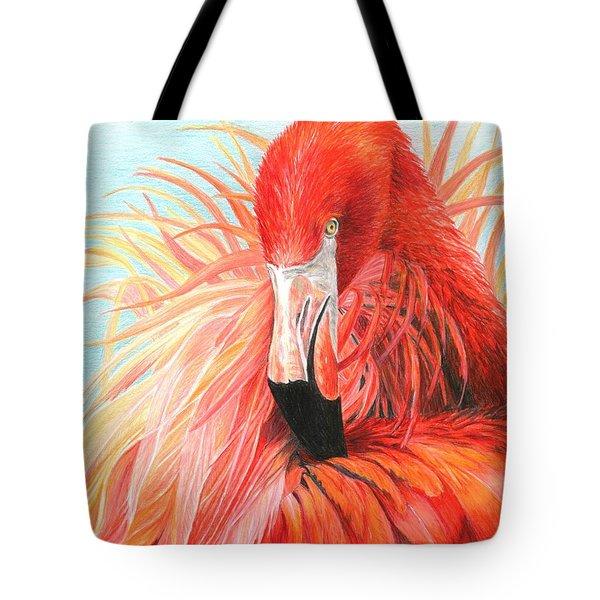 Red Flamingo Tote Bag