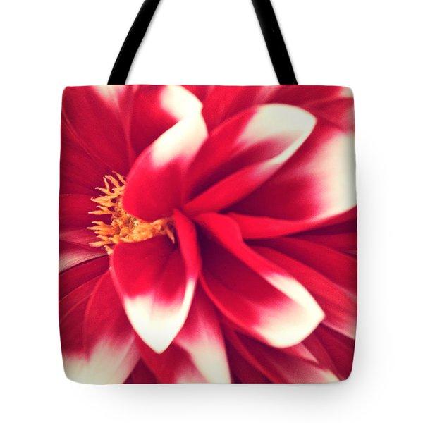 Red Flower Tote Bag by Beril Sirmacek