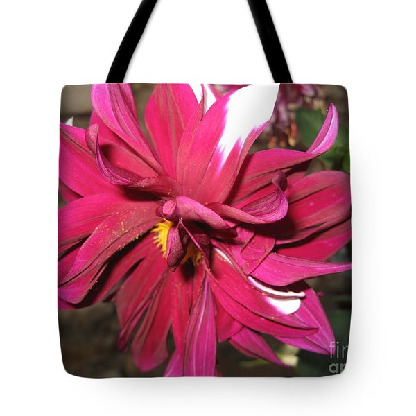 Red Flower In Bloom Tote Bag by HEVi FineArt